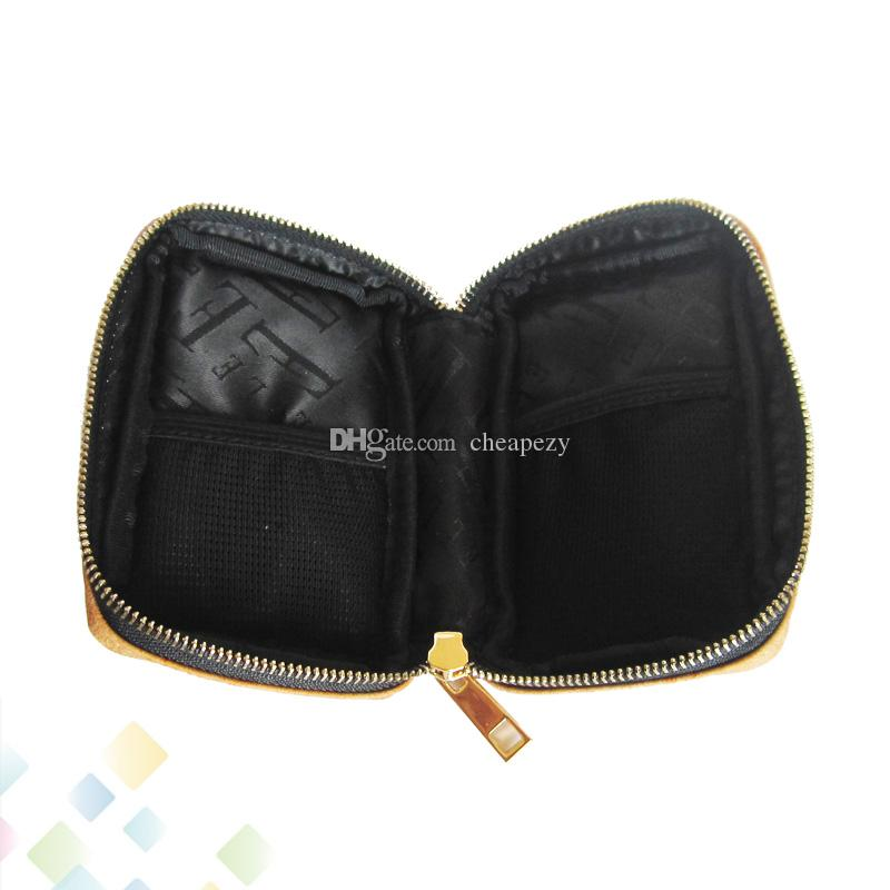 Style Bag Carring Pouch Box Portable Leather Carrry Case Blue Brown Yellow Handbag Pocket Vape Holder for E Cigarette DHL Free