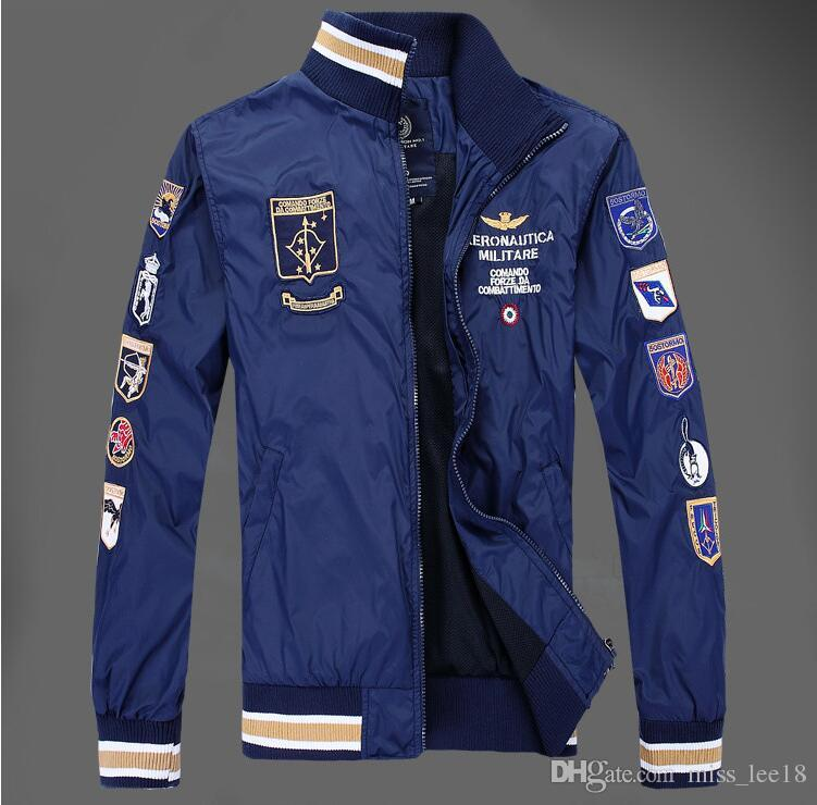 3d592e4715d New Style Aeronautica Militare Jackets Sports Men s Polo Air Force ...