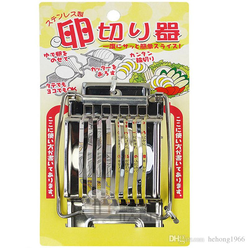 Creative Design Egg Slicers Stainless Steel Sturdy Eggs Cutters Portable Wares Kitchen Food Splitter Tools Utensil High Quality 8 39jd Z