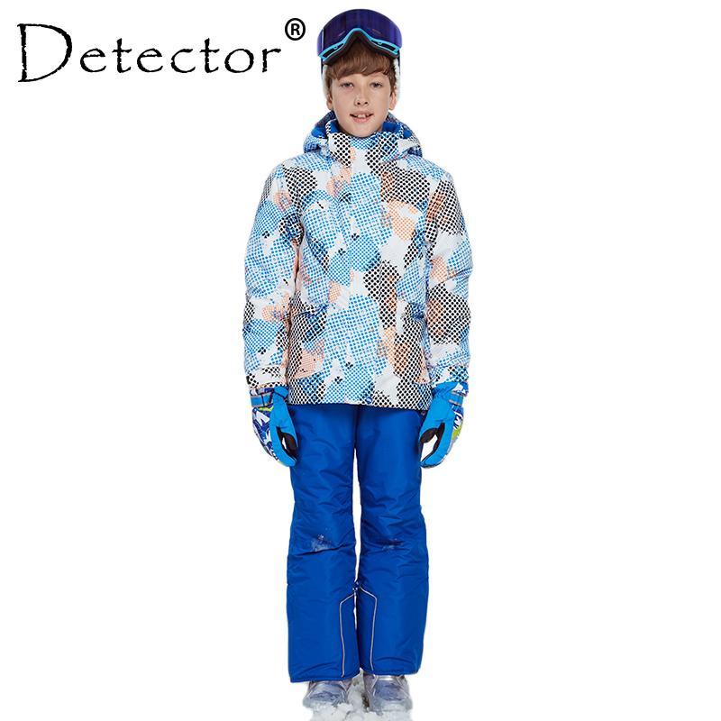 3f055ec17068 2019 Detector Boy Winter Ski Suit Waterproof Windproof 5000 Ski ...