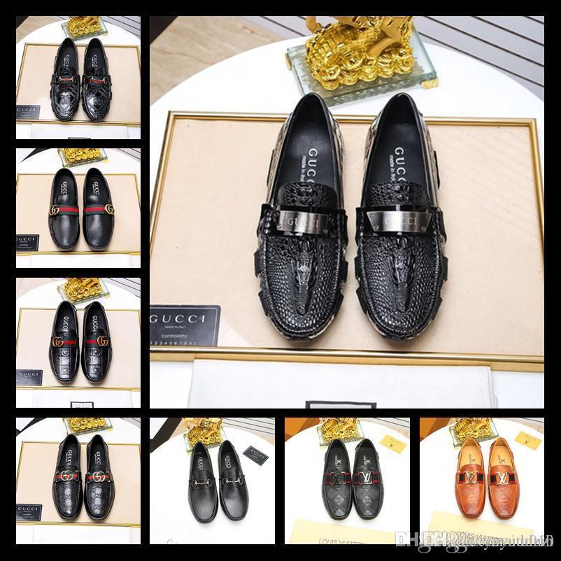 Meilleur cuir hommes loisirs robe partie de chaussure cadeau doug chaussures Metal Buckle Slip on célèbre marque homme paresseux falts Mocassins