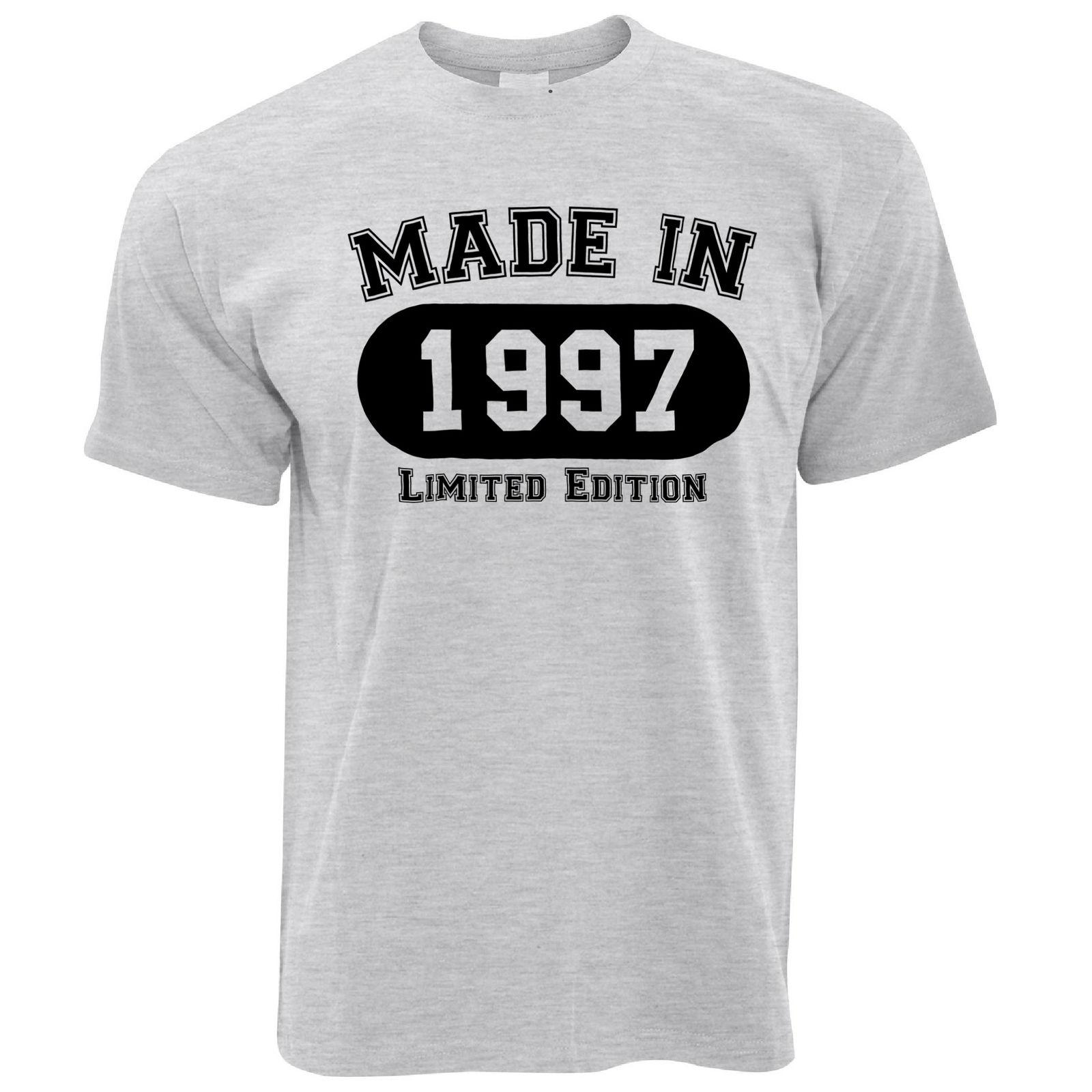 21st Birthday Mens T Shirt Made In 1997 Limited Edition Printed Gift Idea Make Shirts Designs From Nkotshirts 1056