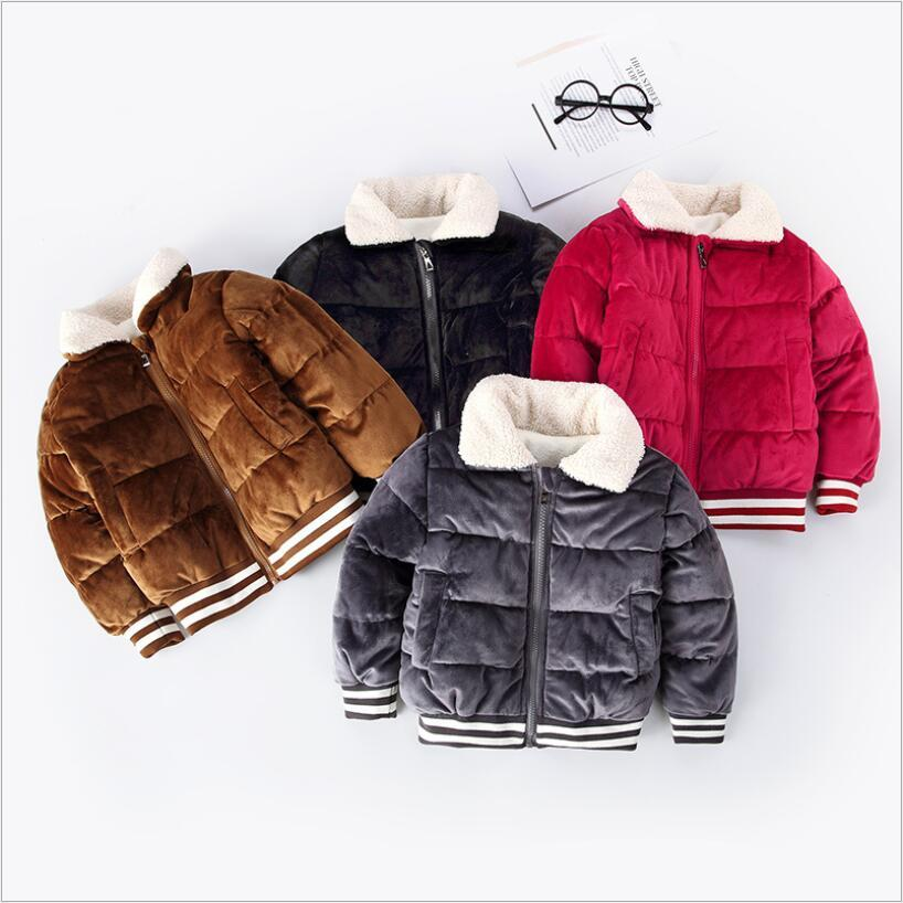 9afa3d84e Children s winter coat jacket Kids baby gold velvet warm coat Boy and girl  fashion casual clothes