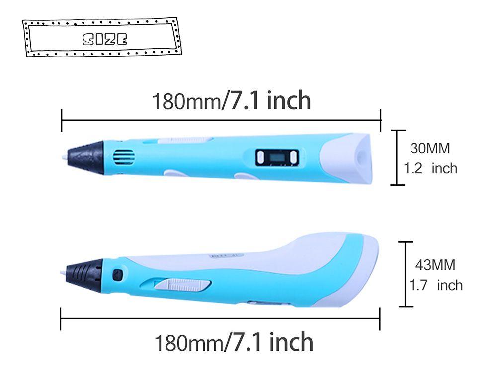 Led-anzeige DIY 3D Drucker Druck Stift ABS PLA Filamente Kunst Zeichnung Malerei 3D Stifte Für Kinder Geburtstagsgeschenk Geschenk