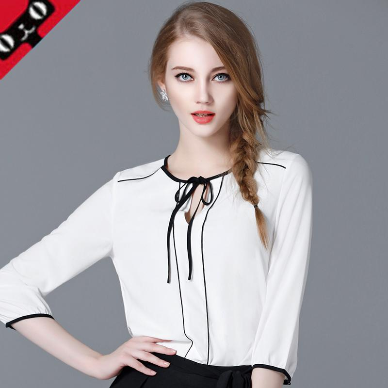 5cc3065813337 2019 2017 New Formal Ladies Plus Size Maternity Clothes Chiffon Blouses  White Summer Clothing For Women Ladies Girls Three Quarter From Dejavui, ...