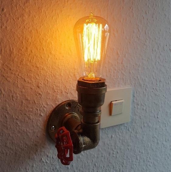 À Rétro Edison Eau Mur De Pipe Acheter Style Lumière Vintage shCBtQdxr