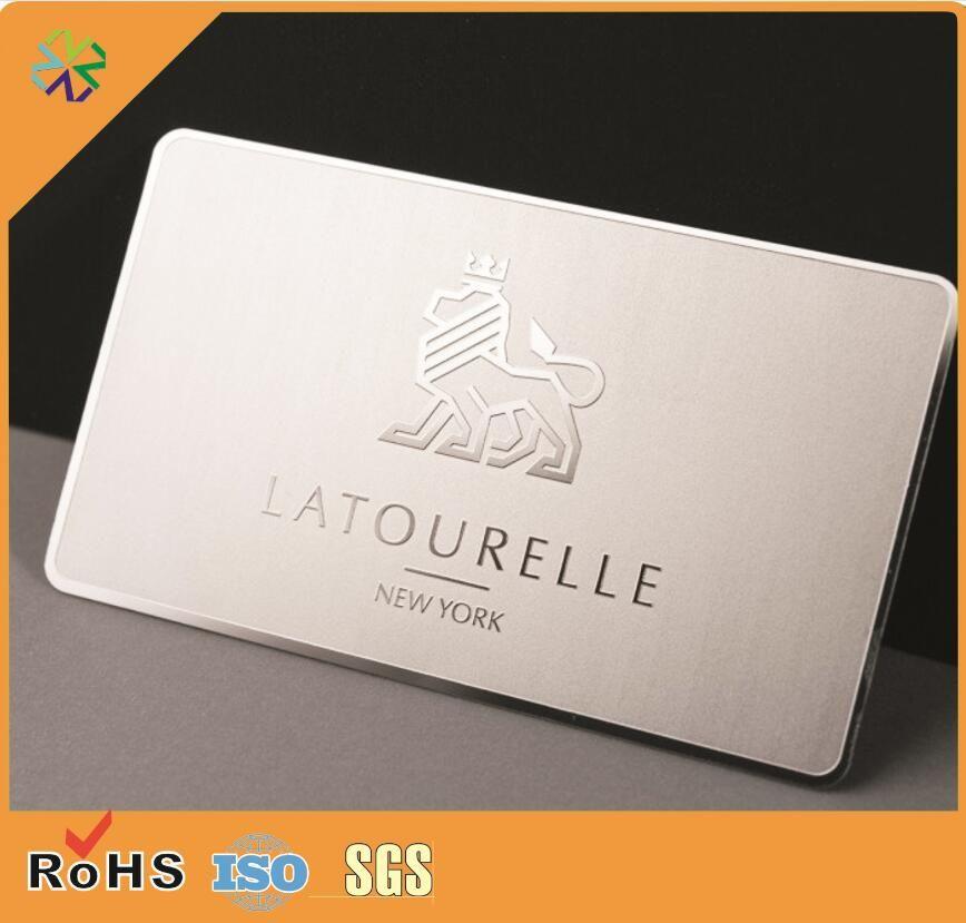 Acier Inoxydable Miroir Surface Effet Metal Carte De Visite Pour Entreprise Adhesion Club 17734 Du Vingyuan