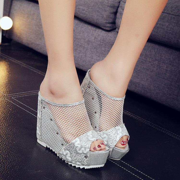 a6b1c98a129ae3 2018 Summer New Fashion Korean Women Sandals Hollow Thick Bottom Boots  Muffin Bottom Wild Wedges With Increased Fish Mouth Sandals Cute Shoes  Leather ...