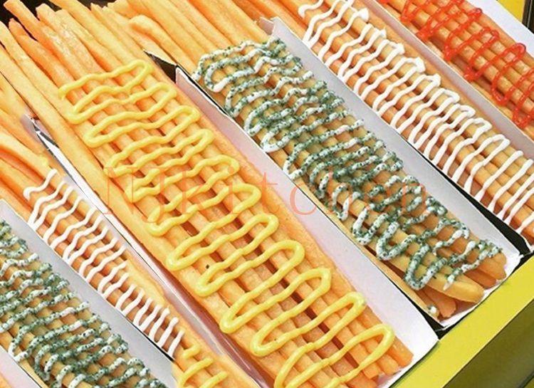 Ücretsiz Kargo paslanmaz çelik 20 cm 30 cm süper uzun kızartması maker dağıtıcı uzun patates şekillendirme makinesi footlong kızartması maker ...