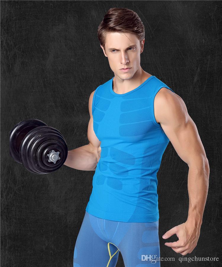 617b3d8698ecd Men s Body Shapers Comfortable Belly Shaper For TV Slimming Shirt ...