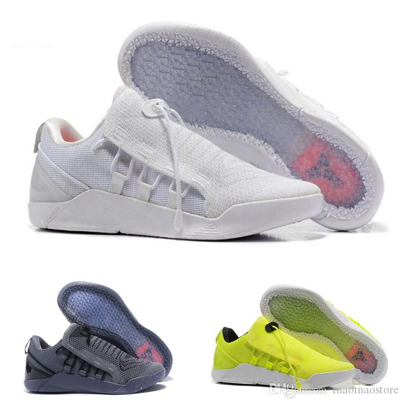 on sale 83ffe 6290a New Basketball Shoes Mens KOBE A.D. NXT 12 men KB Volt White Black AD WOLF  GREY Zoom Sport Shoes,discount cheap Training Shoes