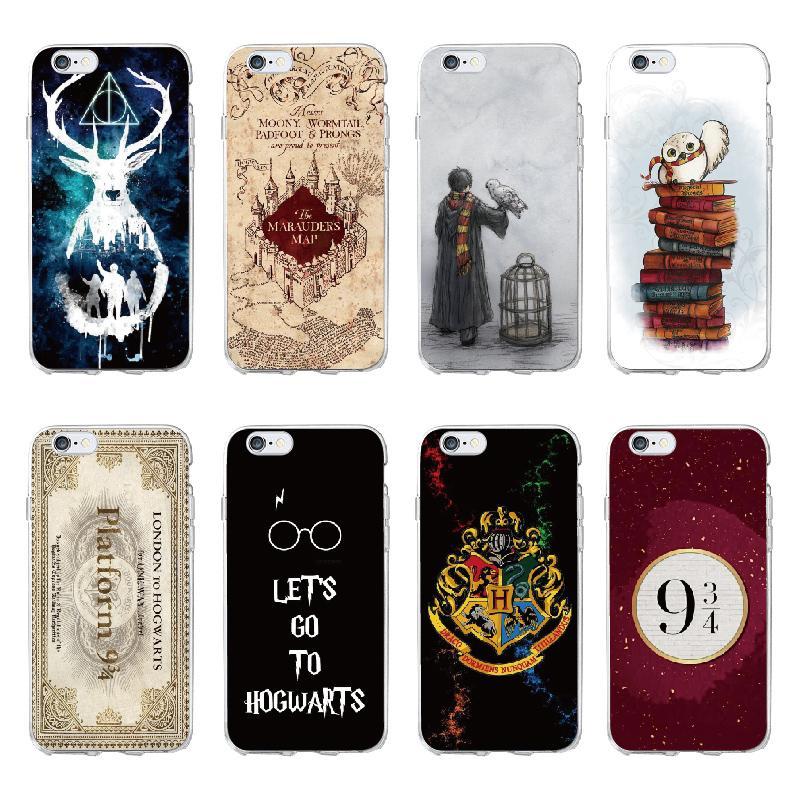 e06ec99b3c4 Fundas De Movil Personalizadas Harry Potter Hogwarts Pattern Design Funda  De Silicona Suave Para IPhone 7 6 6S 8 Plus 5S SE X Coque Fundas Capa  Accesorios ...
