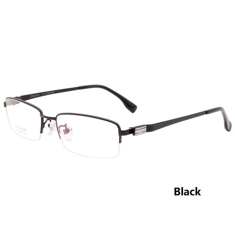2018 Lightweight Titanium Men\'S Glasses Frames Business Half Box ...