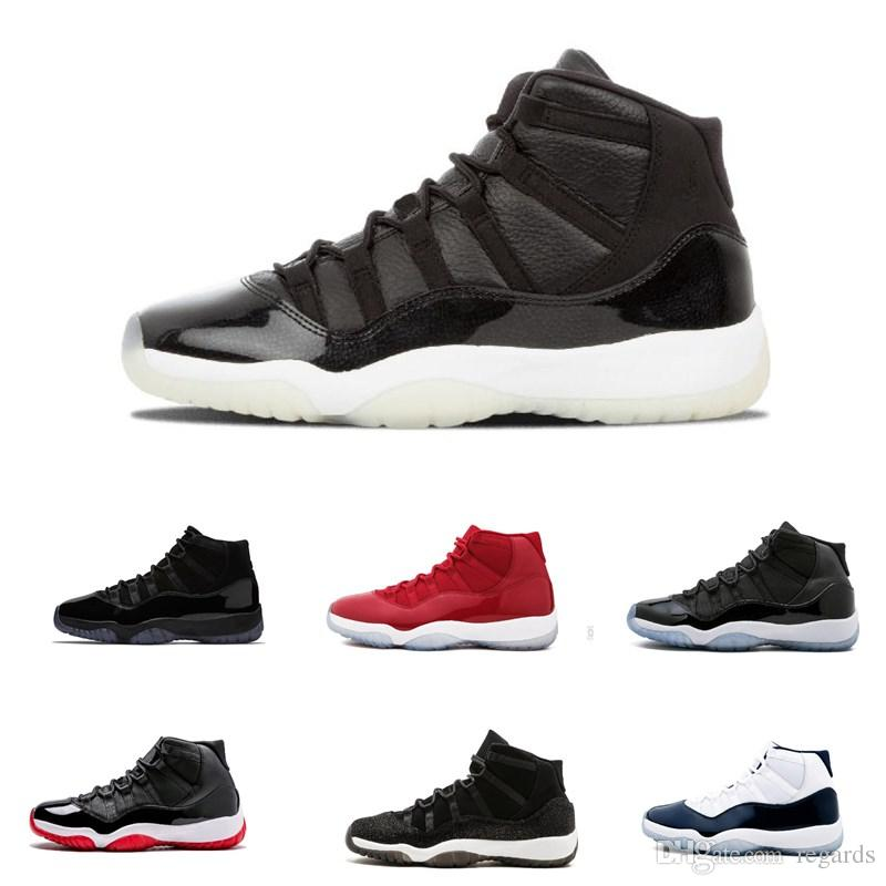 6bbbea94118 11 White Red Cap And Gown Gym Red Black Stingray OVO Midnight Navy Bred  Shoes 11s Mens Womens Kids Basketball Sneaker Drop Ship UK 2019 From  Regards