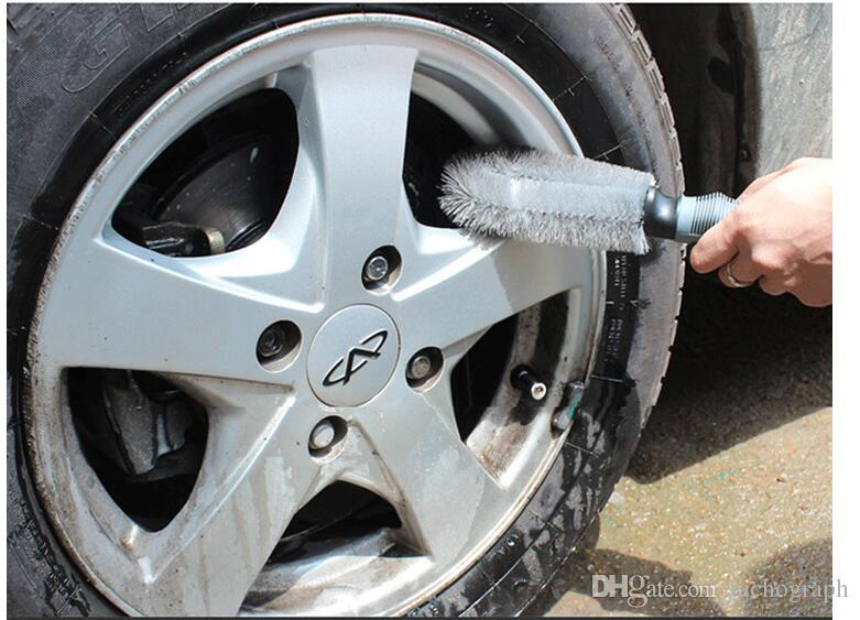 Vehicle wheel hub brush, car cleaning wheel special brush brush, steel ring brush car cleaning brush