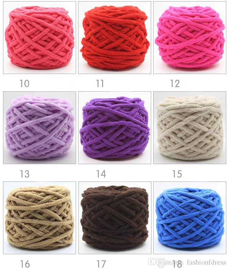 Chunky Wool Yarn for Hand Knitting 100g/Soft Thick Laine Yarn for Knitting Warm Sweater Neckerchief Baby Clothes