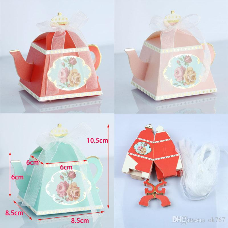 New Royal Teapot Candy Box Afternoon Tea Party Cookies Gift Box