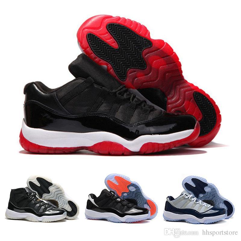 brand new 805a2 ce32e Acheter 2017 Nike Air Retro Basketball Jordan 11 Xi Basketball Chaussures  Hommes Femmes Space Jam 11s Bred Légende Bleu Discount 72 10 Gym Rouge  Chaussures ...