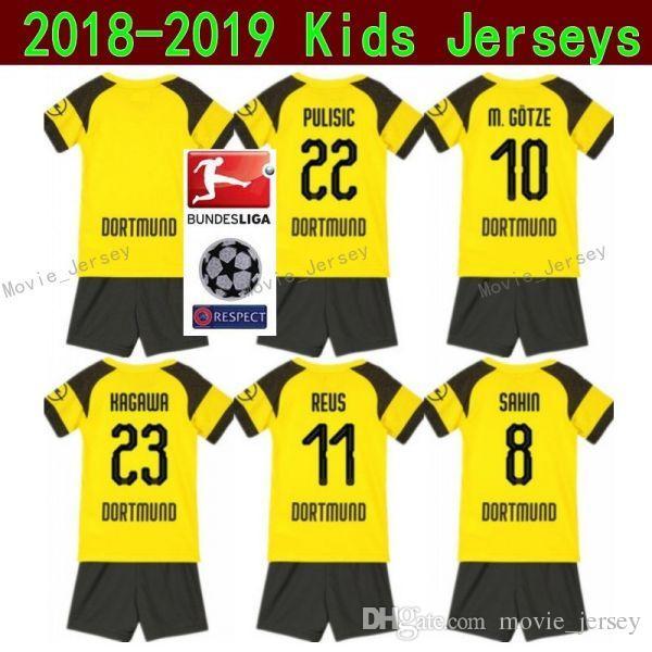 bb67f6b622ff00 Acquista Maglia Da Calcio Youth Borussia Dortmund Youth REUS Set Da Calcio  BVB Bundlesliga Bambini GOTZE PULISIC KAGAWA WEIGL BURKI Maglia Da Calcio  Yellow ...
