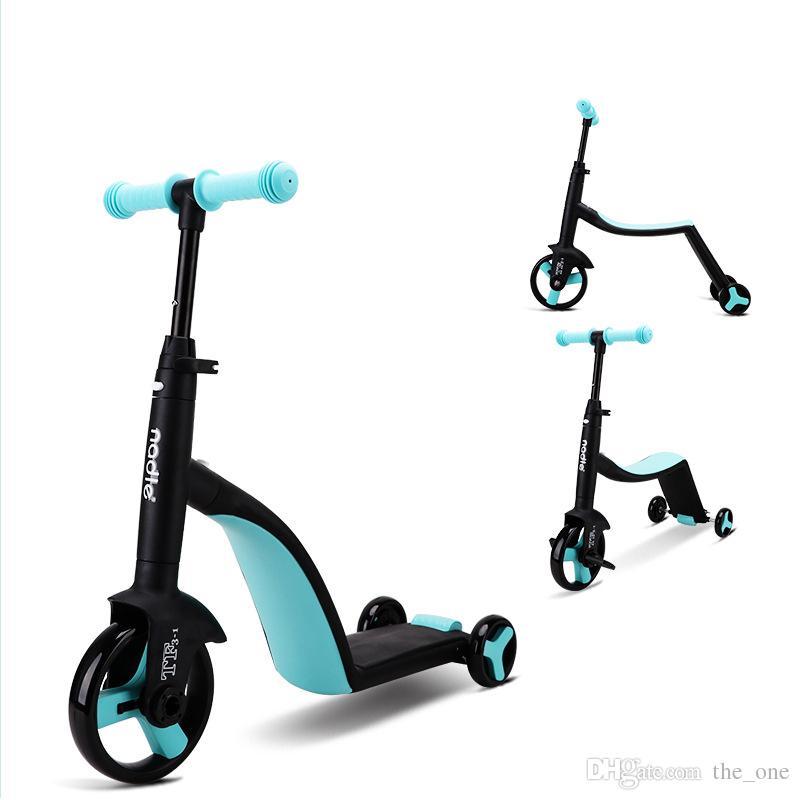 New Baby Passeggino 3 in 1 Bambino Scooter Bambini Balance Car Multifunzione Triciclo Chidren Skater Trasporto Trasporto libero