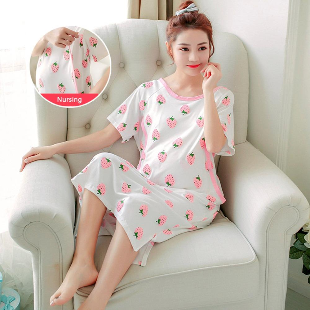 2a98e1284061f 3XL Large Size Maternity Sleepwear Cotton Dresses For Pregnant Women  Pajamas Nursing BreastFeeding Dress Nightgown Dress Clothe Dresses Cheap  Dresses 3XL ...