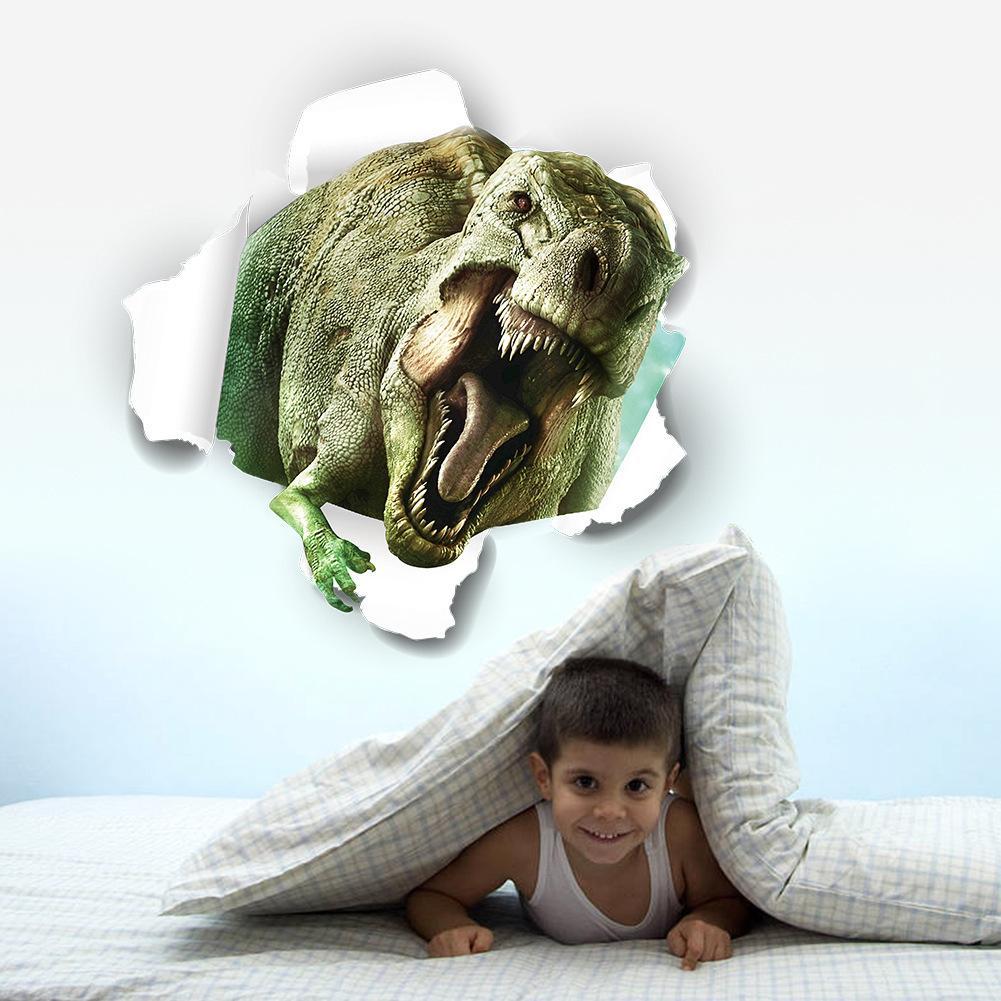 50 * 50 CM 3D Dinozor Duvar Çıkartmaları Çocuk Odaları Için Ev Dekorasyon Aksesuarları Film Vintage Poster Arka Plan Sticker Duvar Y137