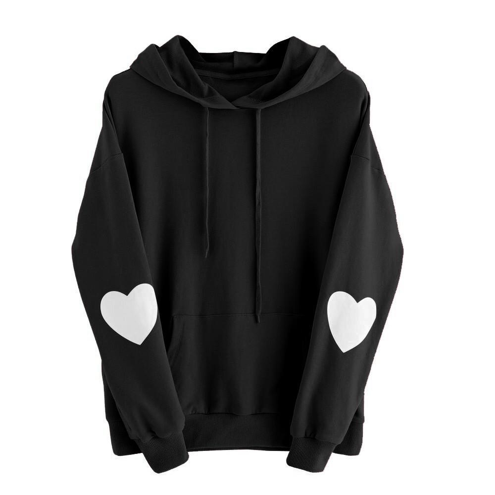 9d70ebf2f Meilleur vente sweat femme manches longues belle coeur sweat à capuche pull  pull à capuche Tops sudaderas mujer 2017 hoodies