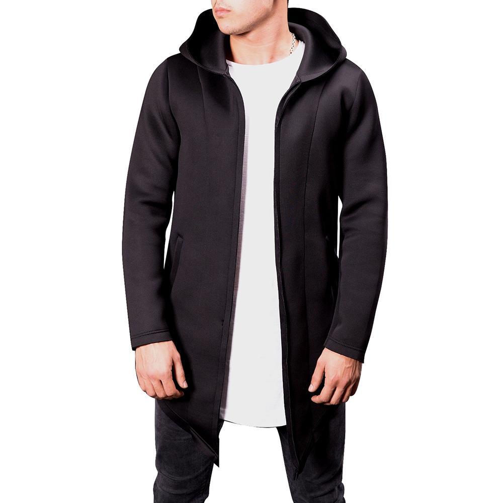 969f4ff684 Compre NIBESSER Homens Hoodie Moletom Longo Casacos Homens Outono Moda  Cardigan Com Capuz Sólida Camisola De Bolso Casacos Casuais Para Masculino  Novo De ...
