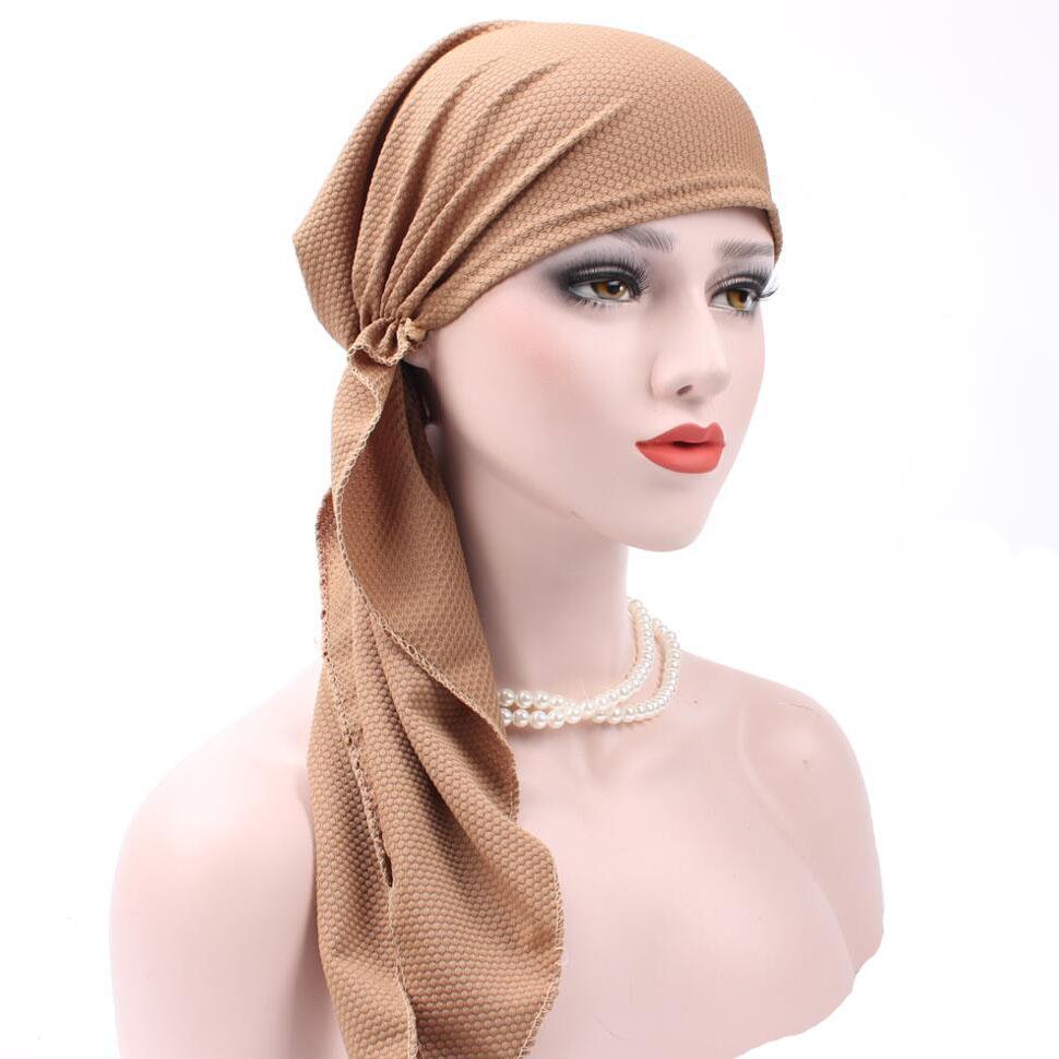 Bandanas Women Ruffle Headscarf Chemo Hat Turban Head Scarves Pre Tied  Headwear Bandana Tichel For Cancer Ladies Turbante Decorative Hair Ties  Decorative ... 7668237b3f36