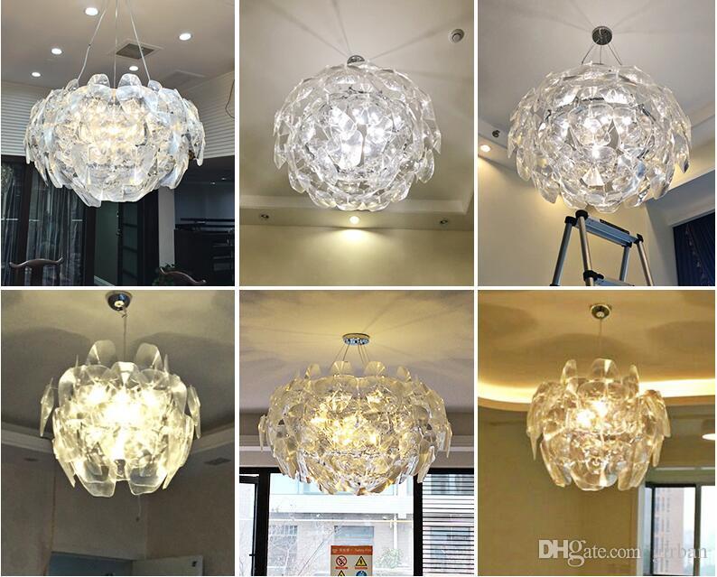 Modern Luz Pingente de Laser Milan Design Esperança lâmpada de Suspensão Acrílico Lustre Luminária Criativa Frete Grátis