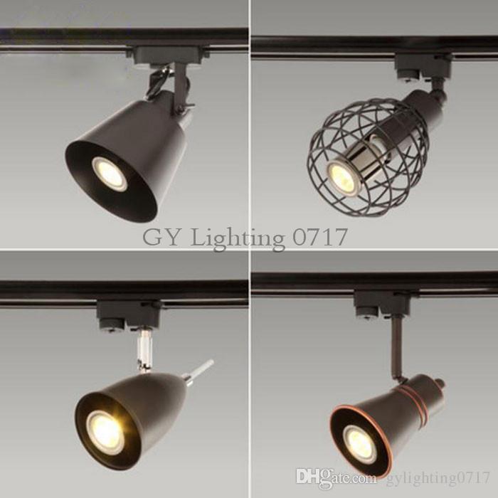 nero rustico LED Track Light COB 10W Faretti binari a soffitto cucina fissa Abbigliamento calzature Negozi Negozi Track Lighting