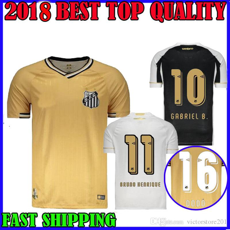 2019 18 19 Brazil SANTOS FC Soccer Jersey Home Away Third 2018 2019 ALISON  RENATO RODRYGO GABRIEL B. BRUNO HENRIQUE DODO Camiseta Football Shirts From  ... 3817393b7