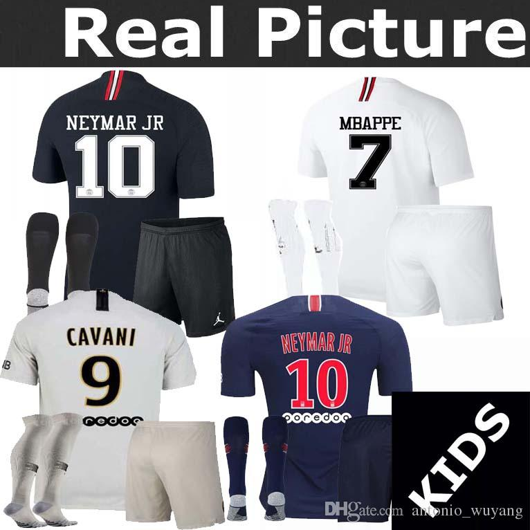 67d9f6d18 Youth 18 19 PSG Jersey Home Away Champions League MBAPPE VERRATTI Jordam  Goalkeeper Buffon Football Soccer Jersey Shirts UK 2019 From  Antonio wuyang