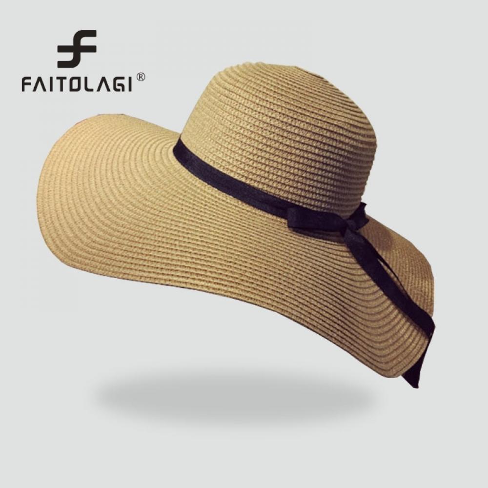 Compre Sombrero Plegable Para Paja Panamá Caps Damas De Viaje Sombrero De  Ala Casual Mujer Ancha Verano Playa Sol Sombreros Niñas Floppy A  10.84 Del  ... 45362d398f2
