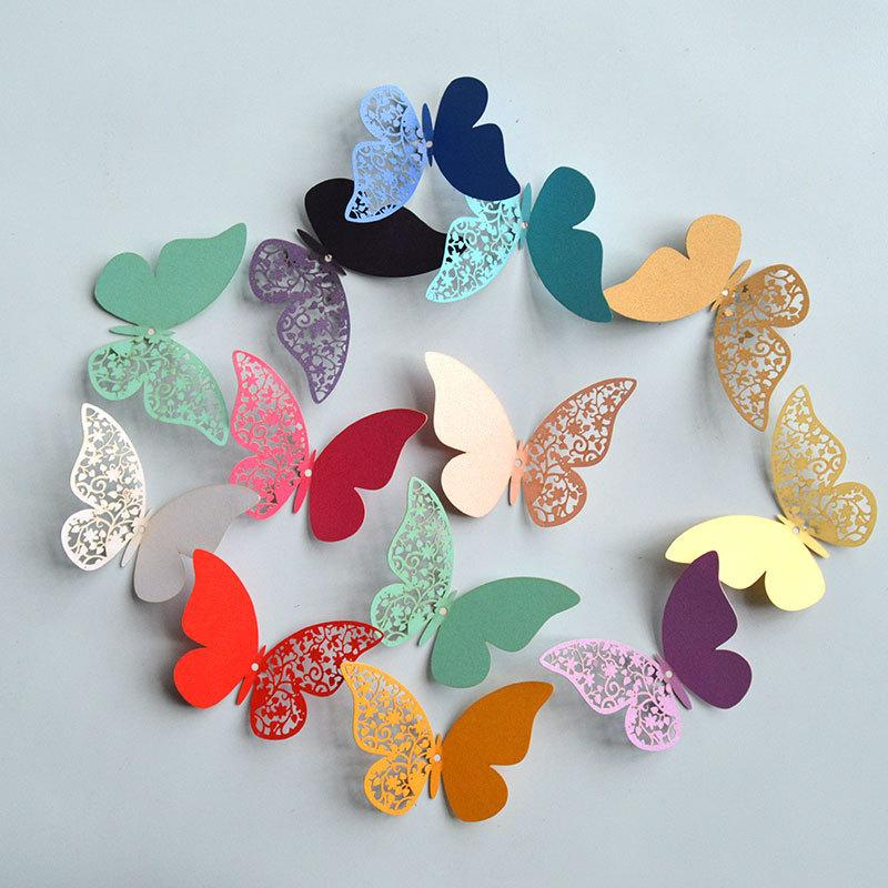 Pearl Paper Butterfly Wall Stickers Half Hollow Colorful Wall Sticker For  Wedding Party Room Decoration For Kids Room Big Wall Stickers Bird Wall  Decals ...