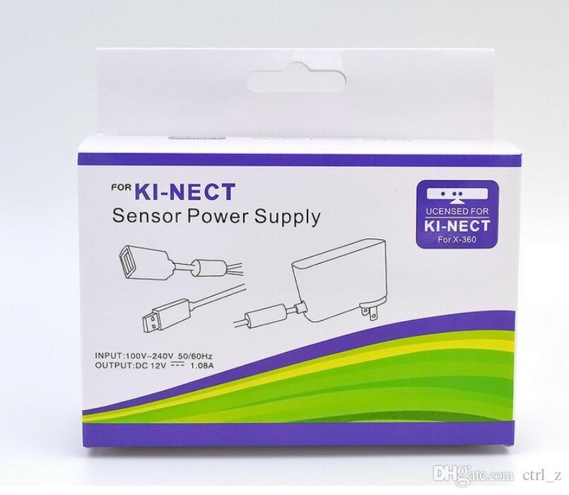 Carregador USB Power Supply AC adaptador para Xbox 360 Xbox 360 magro Kinect Ki-nect Sensor EUA UE plugs 20 peças para cima