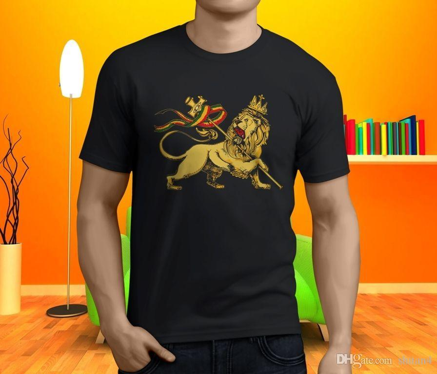 deea6519250d Cool AFRICA RASTA Strong Lion Rastafarian Reggae Black Men's Tshirt Size  S-3XL Casual Plus Size T-Shirts Hip Hop Style Tops Tee S-3Xl