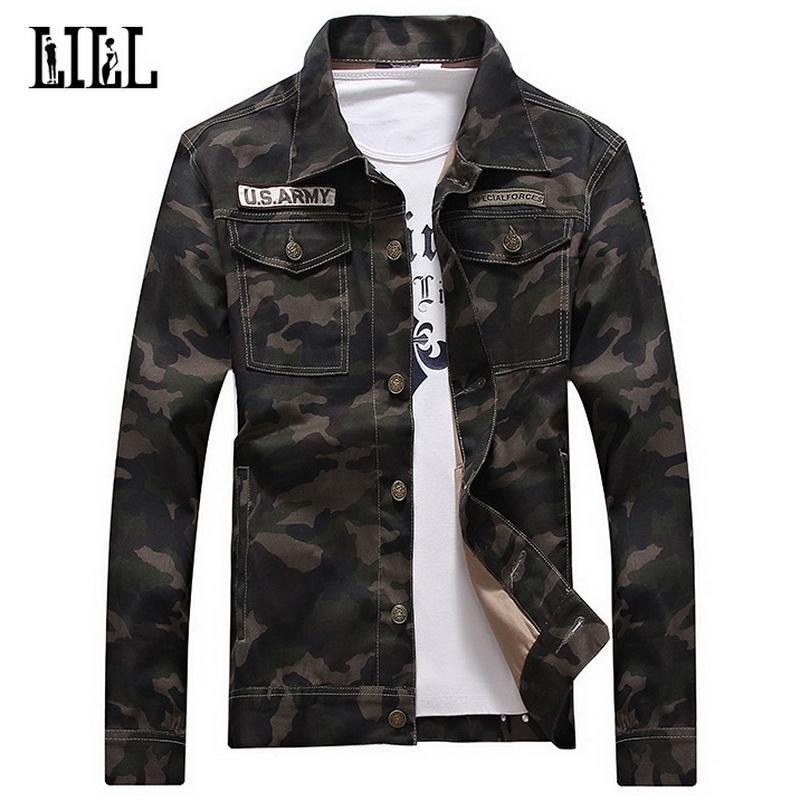b9eea1953604 Cotton Camouflage Jacket Men Women Spring US Army Camo Coat Male ...