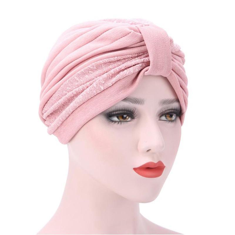Kopfbedeckungen Für Damen Bekleidung Zubehör Frauen Männer Turban Kopf Wrap Band Chemo Bandana Falten Indischen Cap 2017 Neue