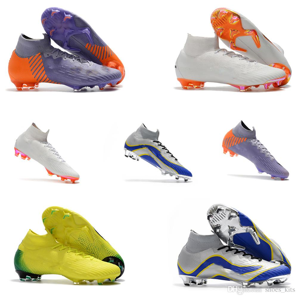 02d6da27269ad Compre Venta Caliente 100% Zapatos De Fútbol Originales Para Hombre  Mercurial Superfly Vi 360 Elite Fg Fútbol Zapatos De Fútbol De Moda A   86.68 Del ...