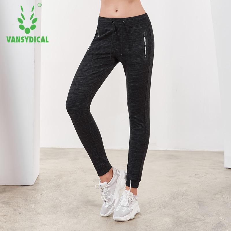 Compre Vansydical Sports Running Yoga Pantalones De Las Mujeres Pantalones  De Chándal De Punto Otoño Invierno Gimnasio Al Aire Libre Entrenamiento  Trotar ... 4a1ad253ff561