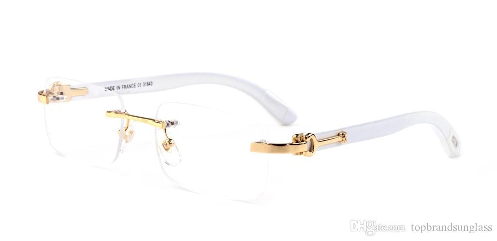 Brand Best Glasses Lunettes Women France Frameless Rectangle Wood Men Hinge Designer C Eyeglasses Sunglasses Sonnenbrille Luxury 8PkwXn0O
