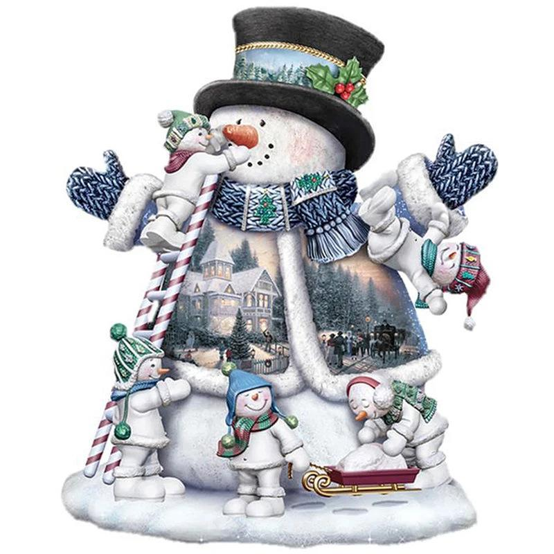 5D DIY diamond painting embroidery room decoration cross-stitch kits Picture full of rhinestones sales Christmas snowman