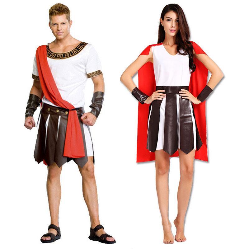 Accessories Cosplay Costumes Umorden Halloween Adult Ancient Roman Greece  Greek Warrior Soldier Gladiator Costume Great Caesar Costumes F..