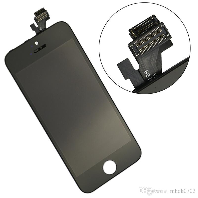 High Quality Glass For iPhone 5 5G 5C 5S Grade A +++ Black LCD Display With Touch Screen Digitizer & Free DHL Shipping