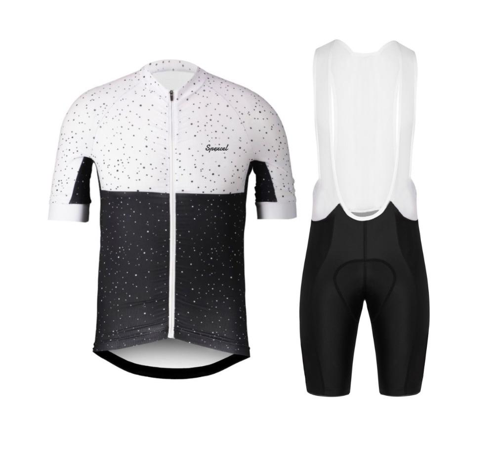 65412dabc Hot Sale 2018 Black White Dots Team Pro Cycling Jersey Cycling Kit Short  Sleeve And Bib Shorts Best Quality Cycling Set Maglia Road Cycling Shoes  Retro ...