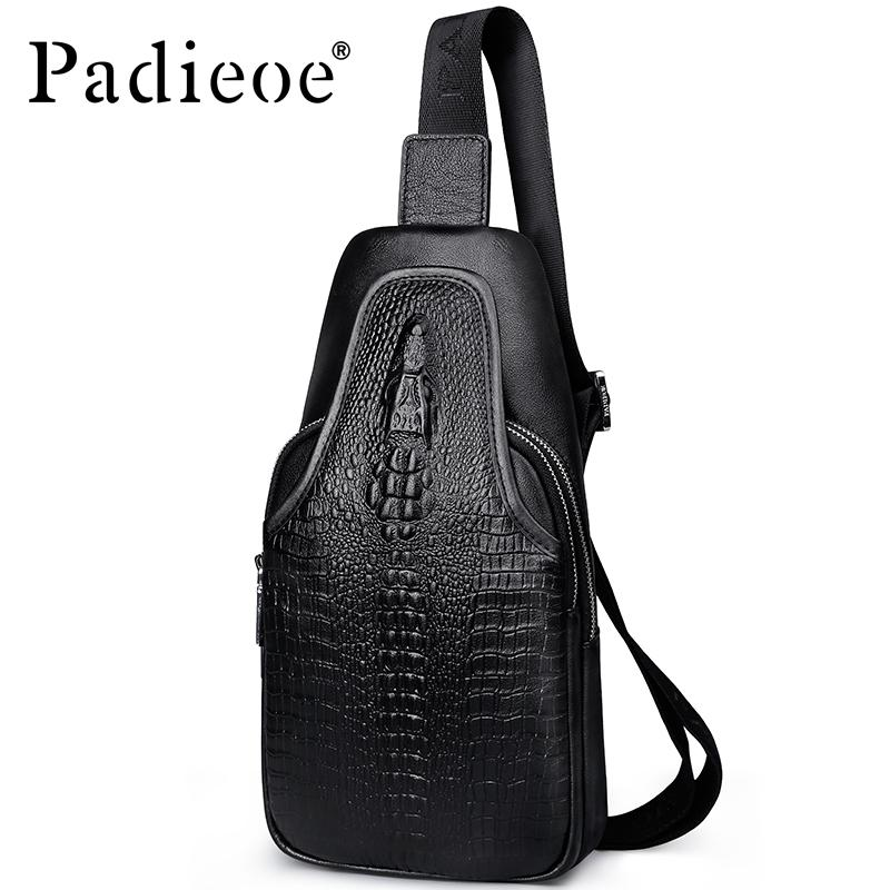 6492af86c2 Padieoe Luxury Brand Men S Chest Bags Genuine Leather Shoulder Bags Male  Chest Pack For Phone Korean Travel Crossbody BLack Waist Pack White Handbags  From ...