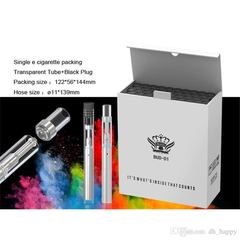 Newest Disposable bud-D1 Glass 510 Cartridge Thick oil vertical Ceramic coil atomizers Vape pen starter kit with O Pen 310mah Battery