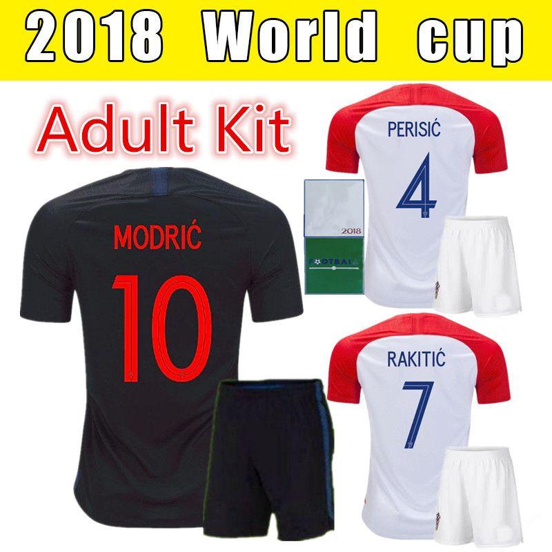 2018 World Cup Home Away Adult Kit Soccer Jersey MANDZUKIC MODRIC ... 1706b59dc