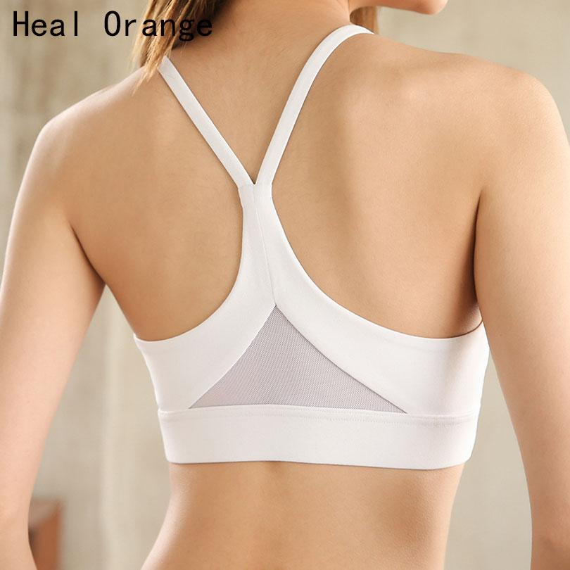 0291145add 2019 2018 Back Mesh Triangle Push Up Sports Bra Top Fitness Racerback Bras  Women Gym Sport Top Padded Yoga Bras Running Underwrar From Bingquanwat